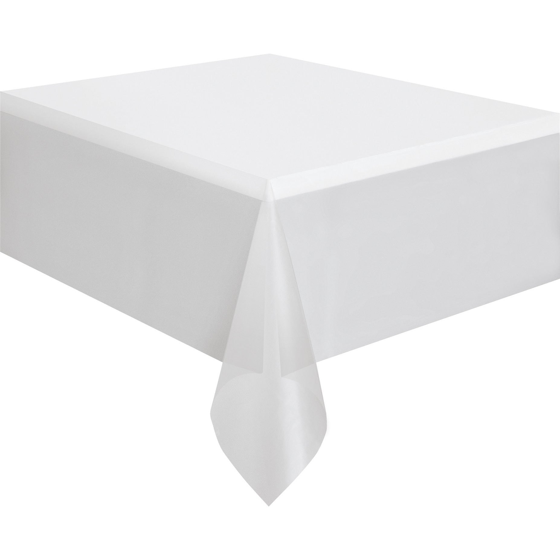 225 & Clear Plastic Table Cover Rectangular