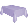 Lavender Plastic Table Cover Rectangular