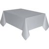 Silver Plastic Table Cover Rectangular