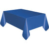 Royal Blue Plastic Table Cover Rectangular