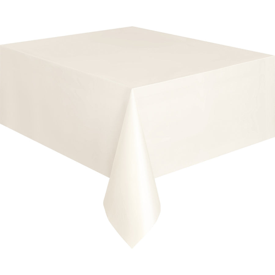 Ivory Plastic Table Cover Rectangular