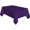 Deep Purple Plastic Table Cover Rectangular
