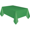 Emerald Green Plastic Table Cover Rectangular