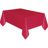 Red Plastic Table Cover Rectangular