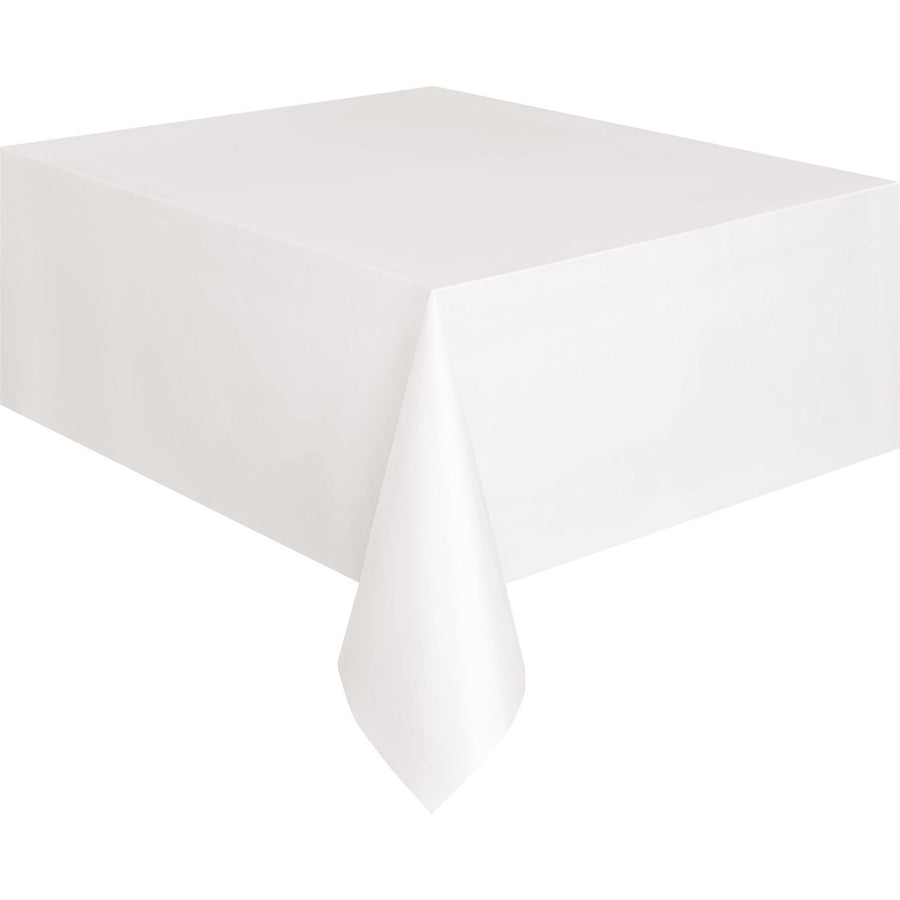 White Plastic Table Cover Rectangular