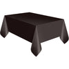 Black Plastic Table Cover Rectangular