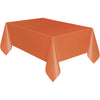 Pumpkin Orange Plastic Table Cover Rectangular