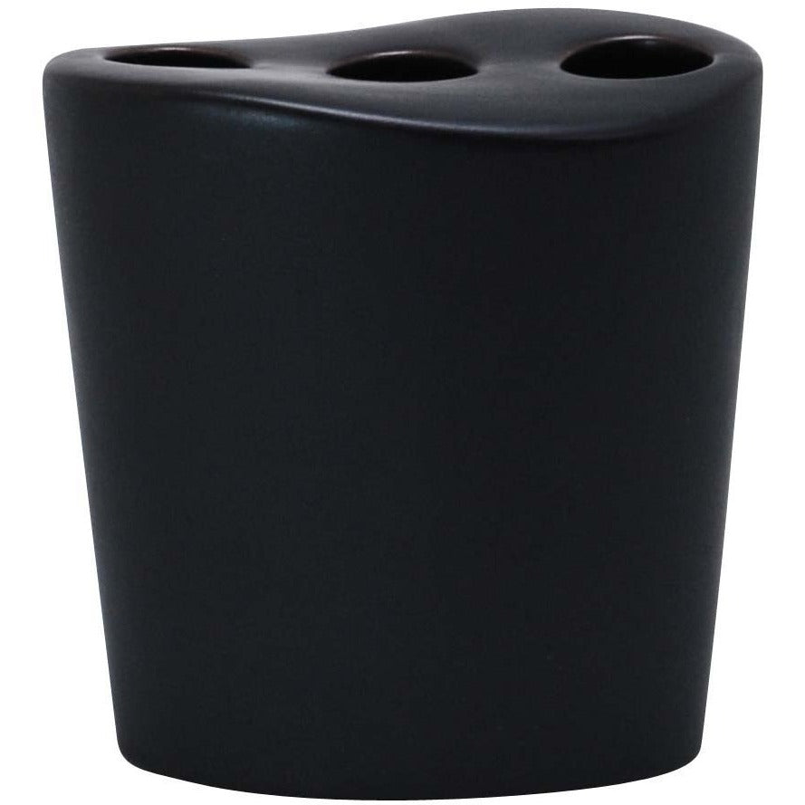 Ceramic Toothbrush Holder, Matte Charcoal