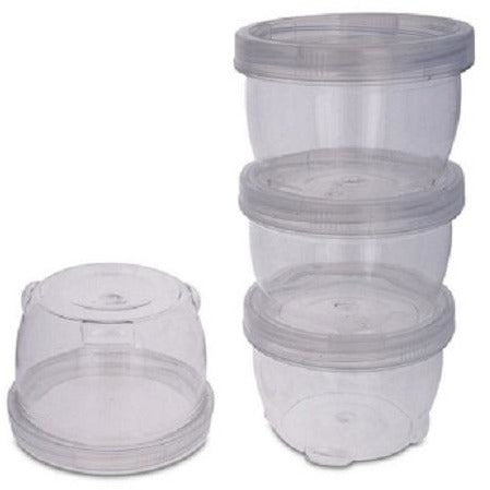 Lockable & Stackable Mini Containers, 4/pk