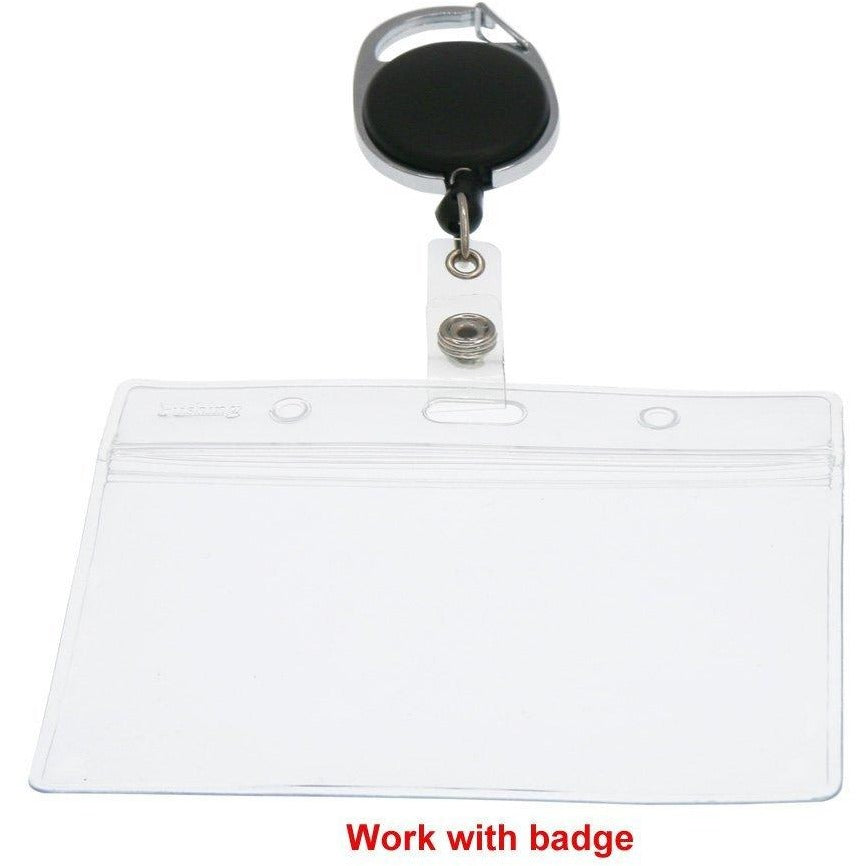 Horizontal Badge Holders, 6/pk