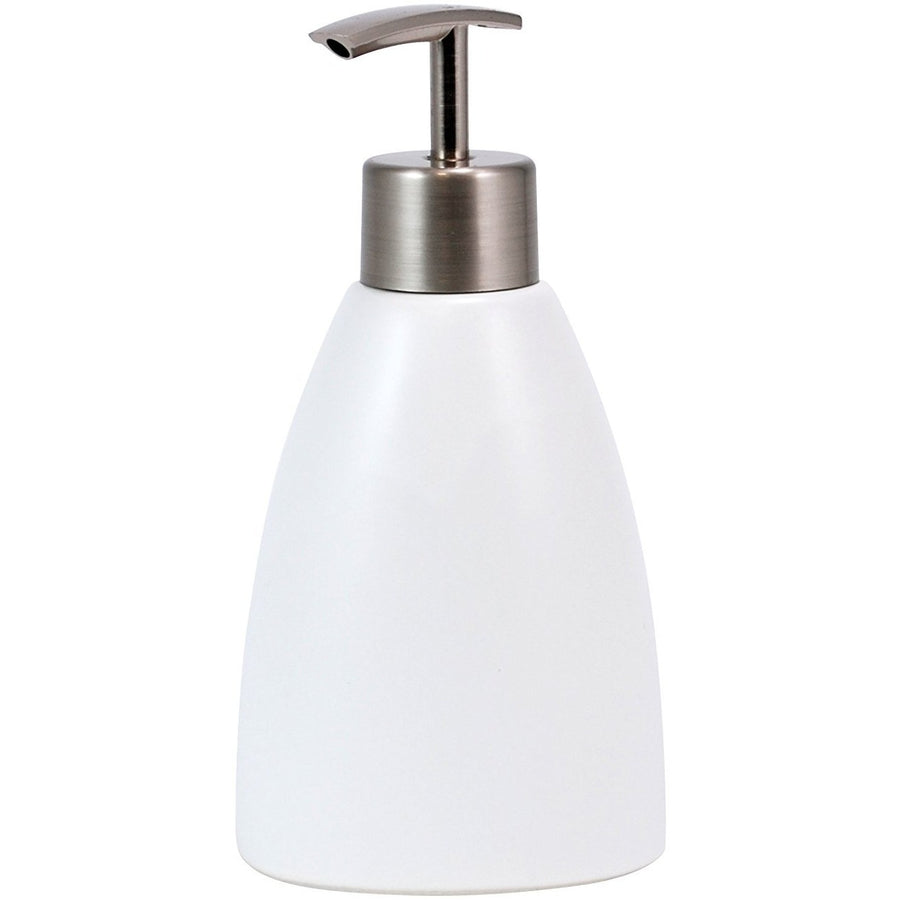 Ceramic Lotion Dispenser - Matte White