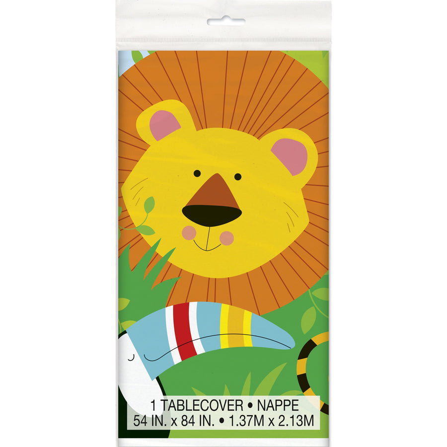 Animal Jungle Plastic Table Cover Rectangular