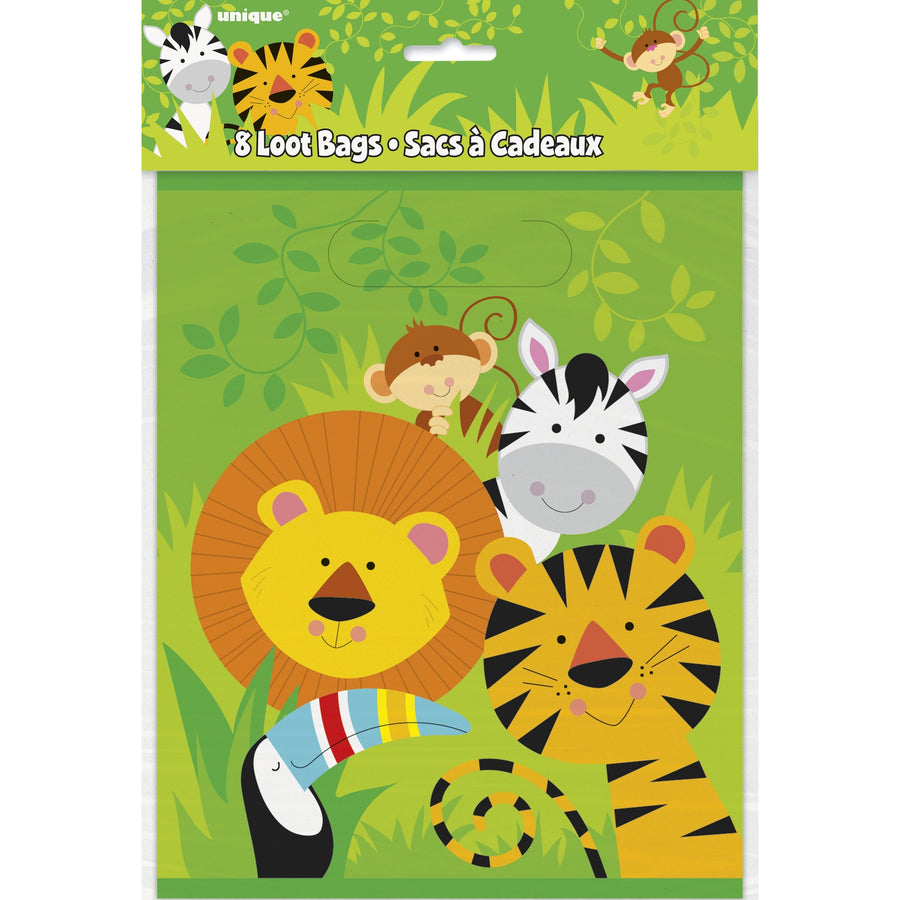 Loot Bags - Animal Jungle, 8/pk
