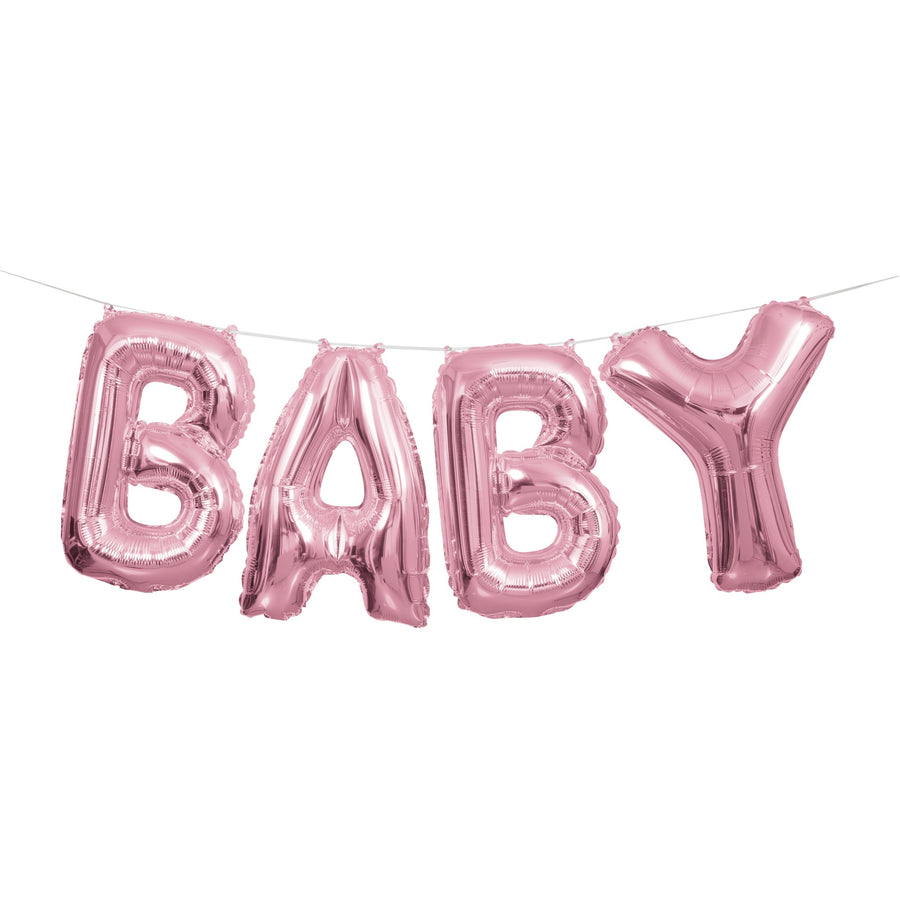Baby Balloon Banner Kit Pink