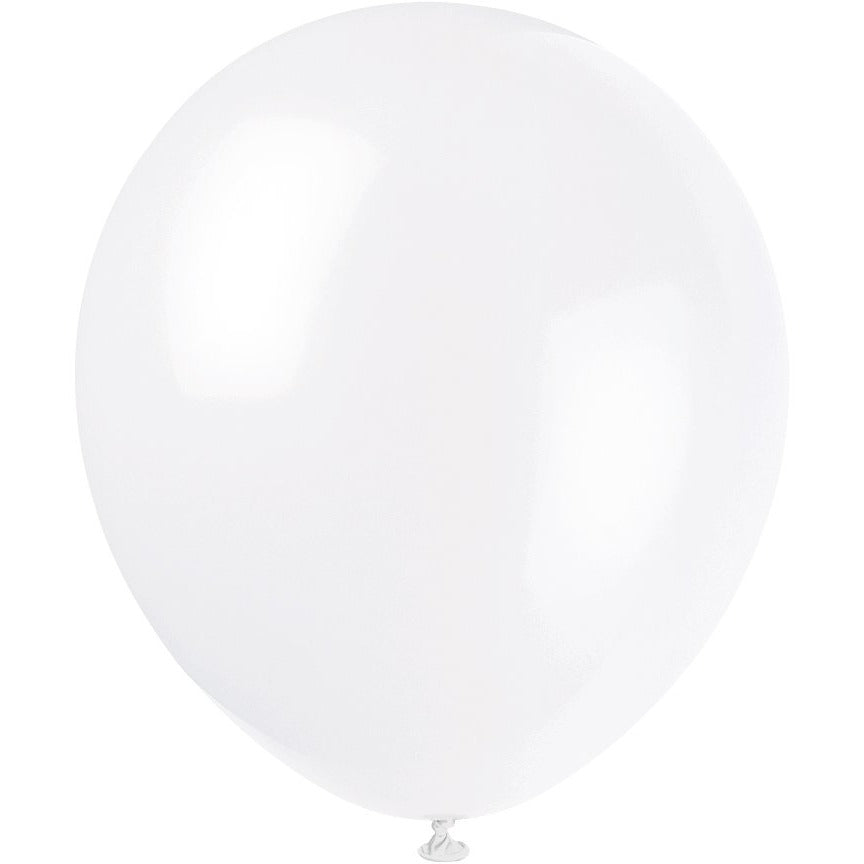 White Latex Balloons 10/pk
