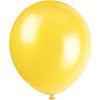 Yellow Latex Balloons 10/pk
