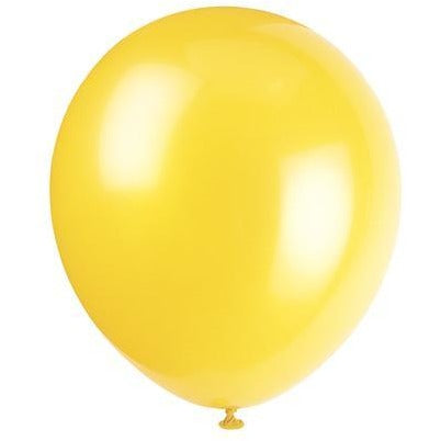 Assorted Colours Latex Balloons 10/pk
