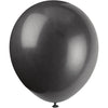 Jet Black Latex Balloons 10/pk