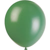 Forest Green Latex Balloons 10/pk