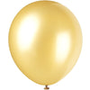 Pearlized Gold Latex Balloons 8/pk
