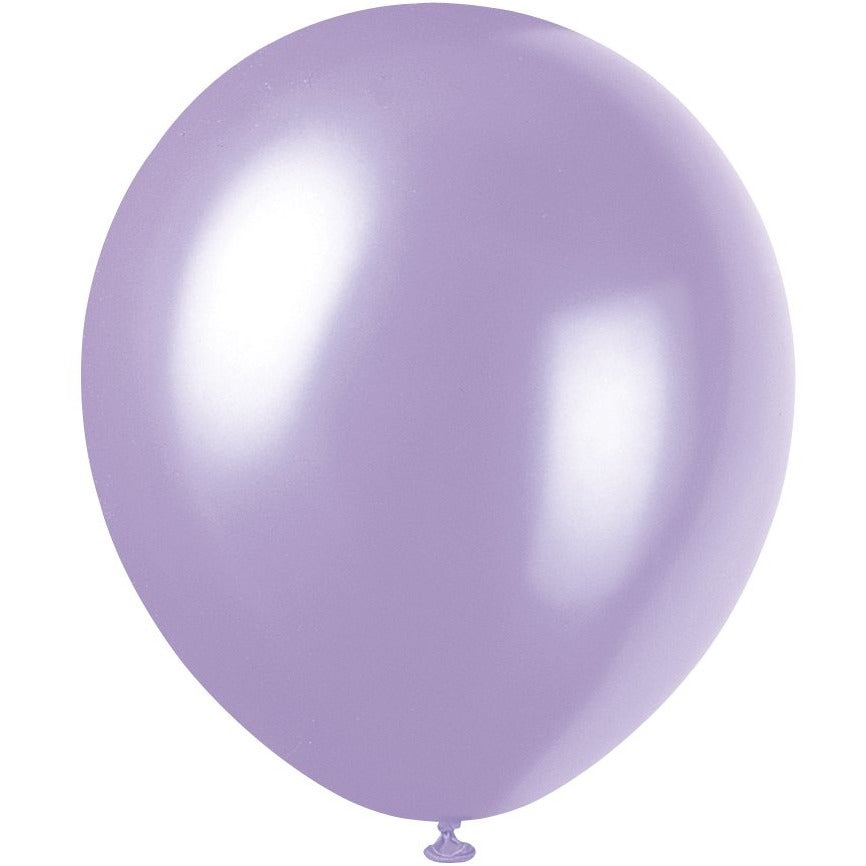 Pearlized Lavender Latex Balloons 8/pk