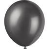 Pearlized Black Latex Balloons 8/pk