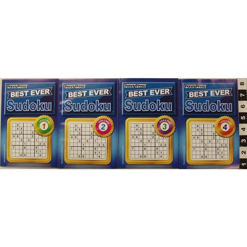Best Ever Sudoku Digest - 4 Assorted