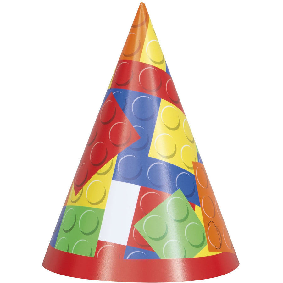 Party Hats - Building Blocks, 8/pk