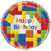 "18"" Building Blocks Happy Birthday"