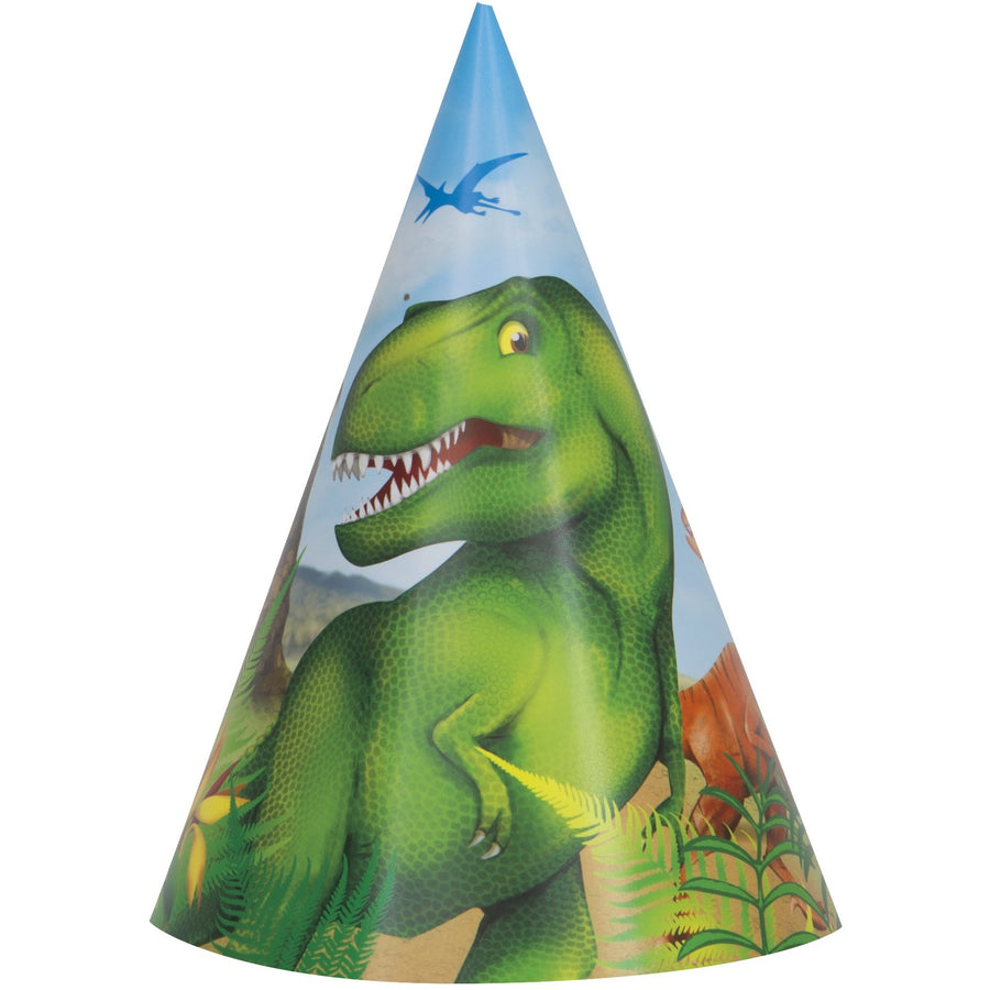 Party Hats - Dinosaur, 8/pk