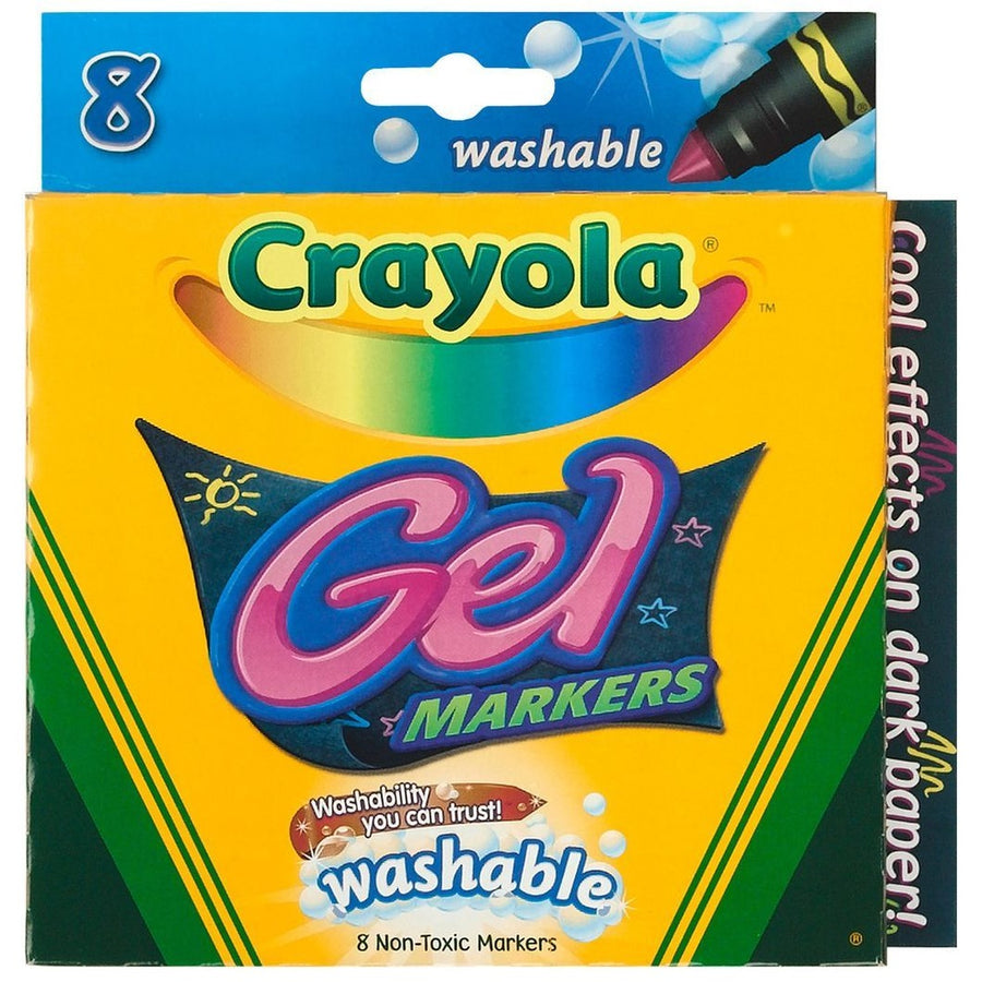 Gel Washable Markers, 8/pk