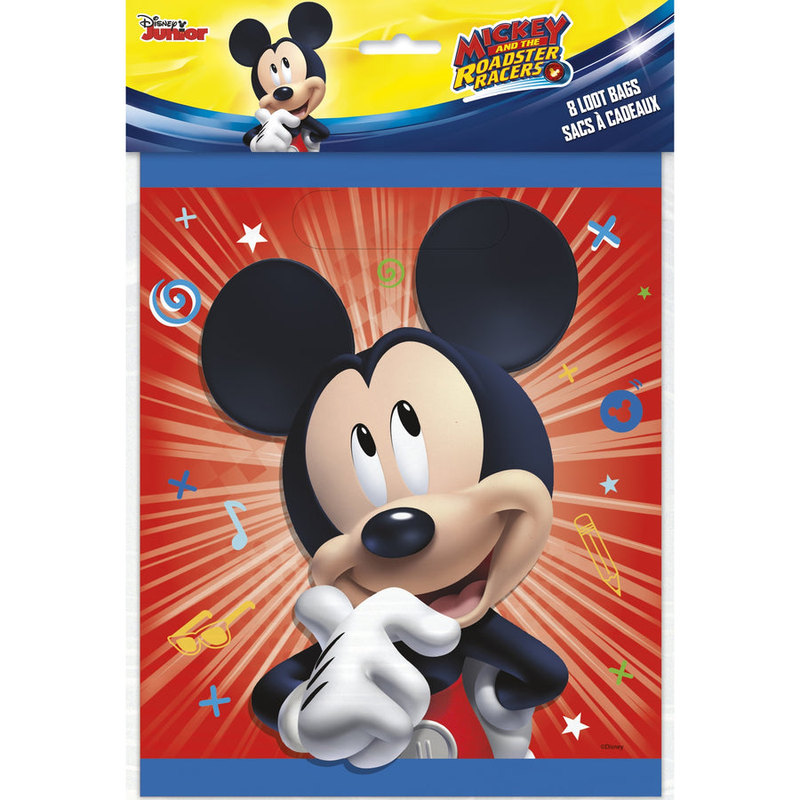 Loot Bags - Mickey Mouse, 8/pk