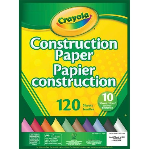 120-sheet Construction Paper Pad