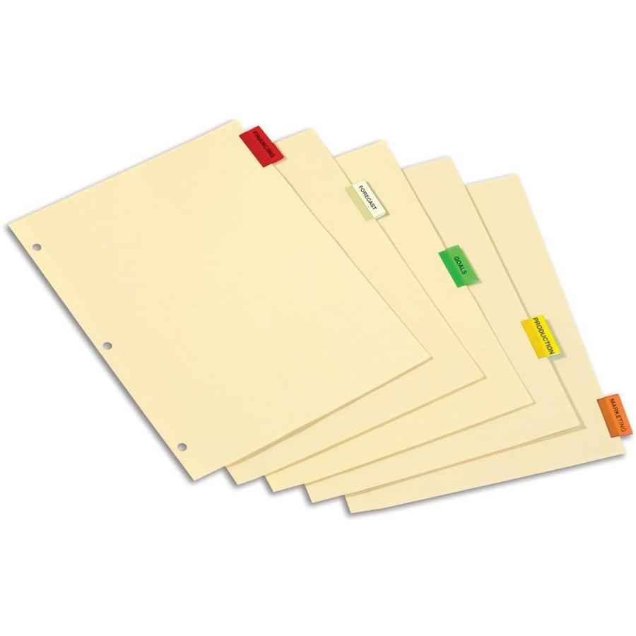 Paper Insertable Tab Dividers, 5/pk