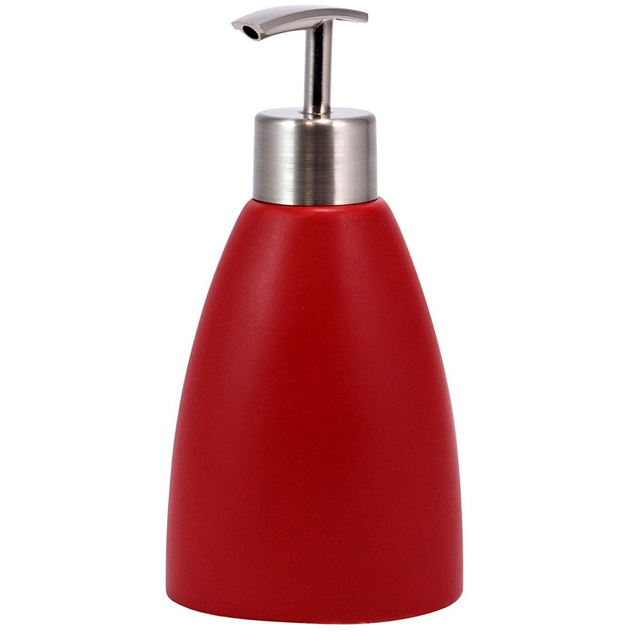 Ceramic Lotion Dispenser - Matte Red