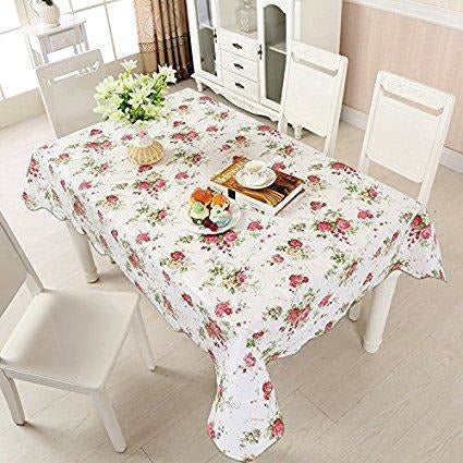 Printed PVC Flannel Table Cloth, Assorted Color - Rectangle