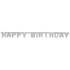 """Happy Birthday"" Deluxe Silver Jointed Banner"