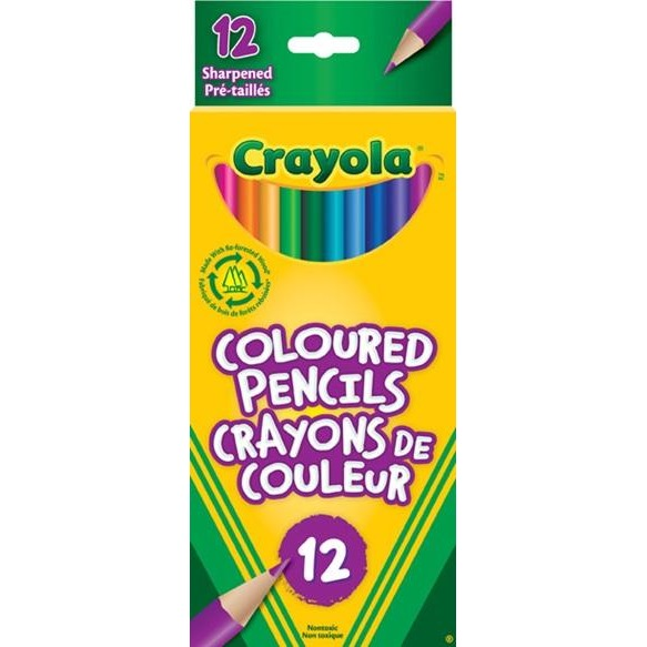 Coloured Pencils, 12/pk