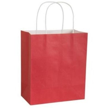 "Paper Favor Bags 8"" x 10"" - Red, 4/pack"