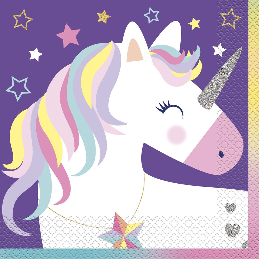 "13"" x 13"" Unicorn Napkins 16/pk"