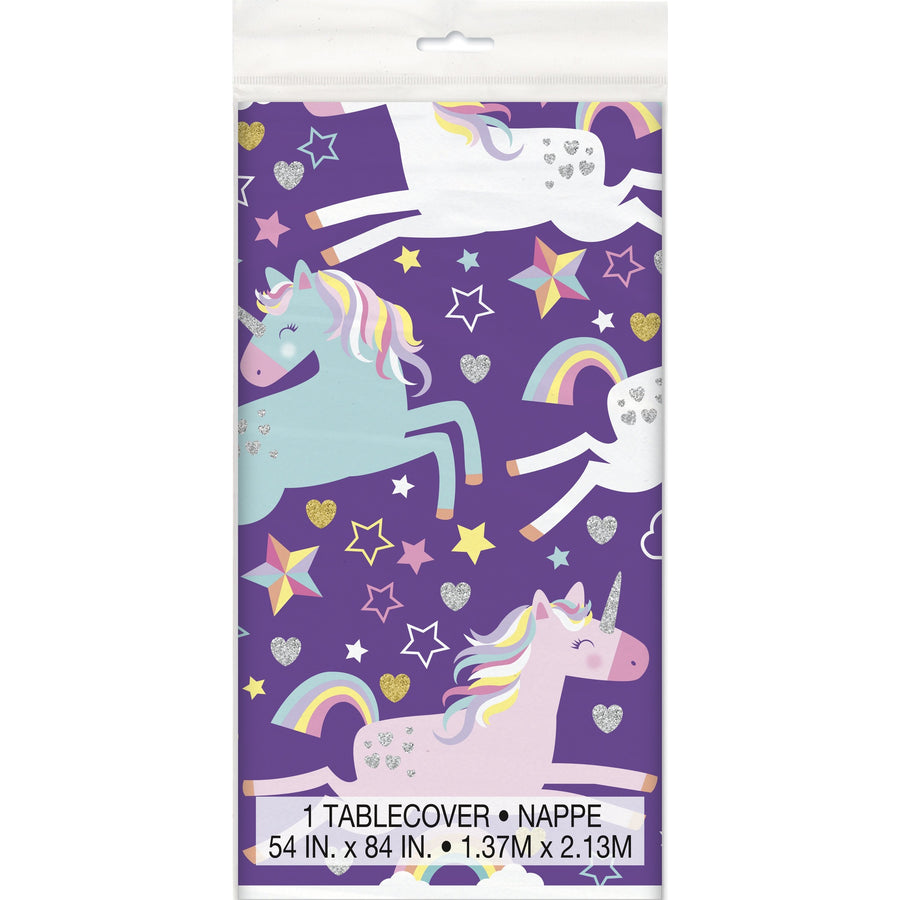 Unicorn Plastic Table Cover Rectangular