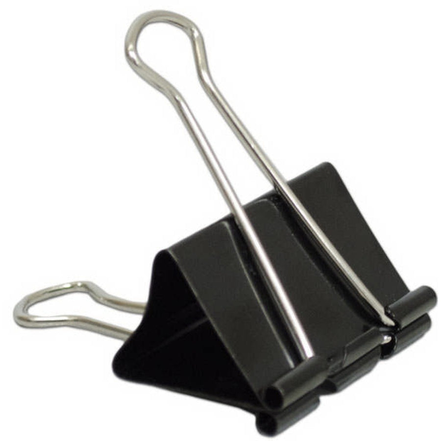"1"" Binder Clips, Black 8/pk"