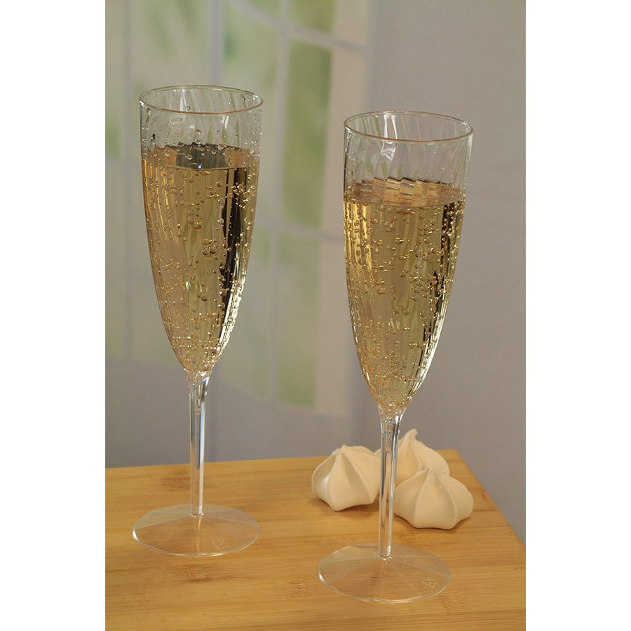 Plastic Champagne Glasess - Clear, 3/pk