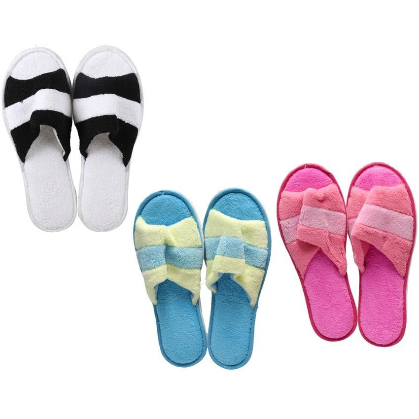 Women's Open Toe Fleece Slippers