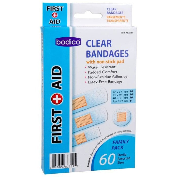 Clear Bandages, 60/pk