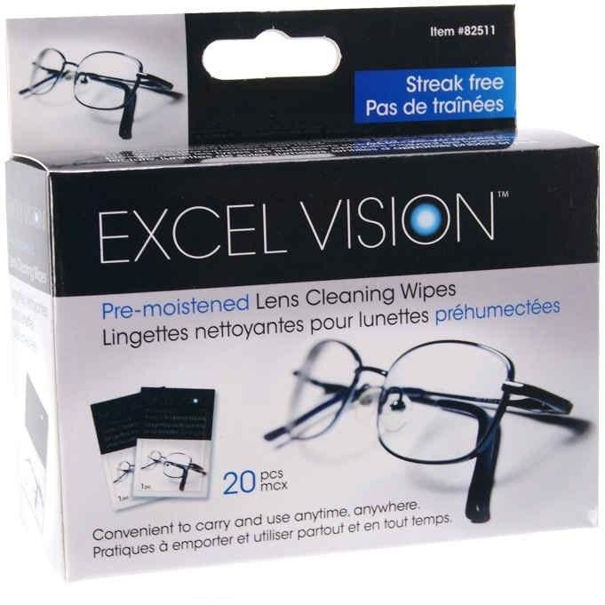 Glasses Wipes, 20/pk