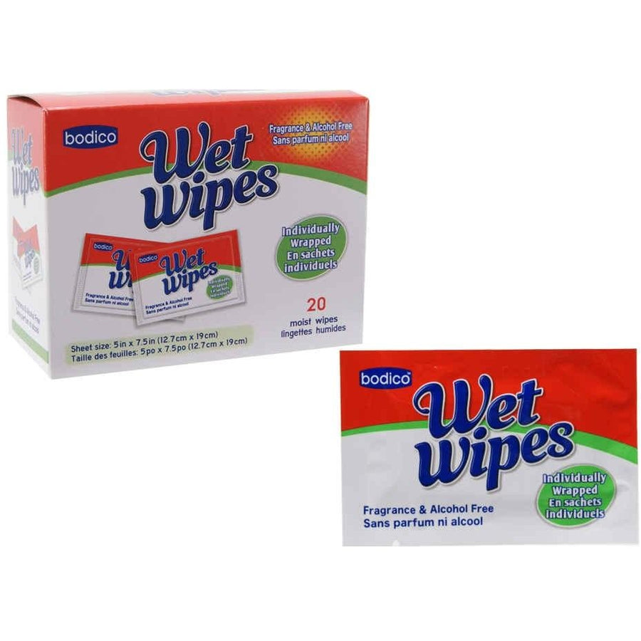 Wet Wipes, Individually Wrapped 20/pk