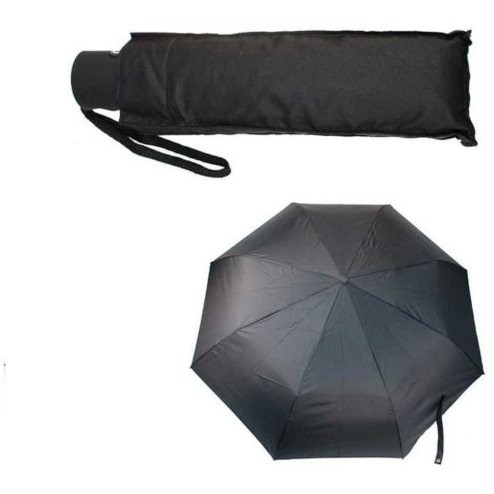 Auto Open/Close Umbrella with Pouch, Black