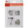80-piece Metal Safety Pins
