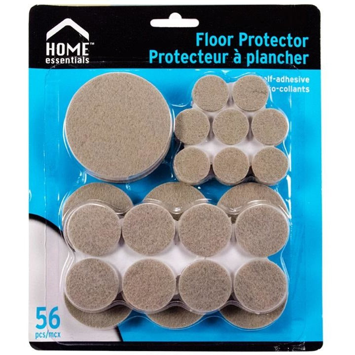 56-piece Assorted Felt Floor Protectors
